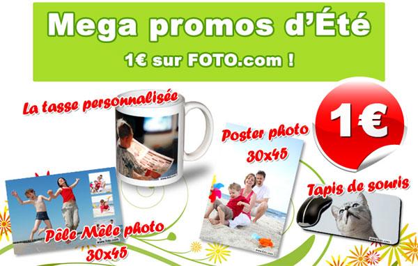 Les produits de Foto.com à 1 €