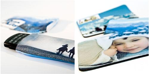 Chaussette pour portable : 7.20 € et tapis de souris 7.50 €